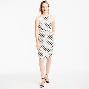 J. Crew Sheath Dress In Polka Dot Textured Tweed